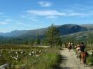 Hjemveien går ned Gapheruslia mot Reisadalen. Røyelkampen til venstre. Foto: Evald Bjerkli